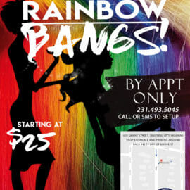 WEB Pinups and Needles Pride 2019 - Rainbow Bangs